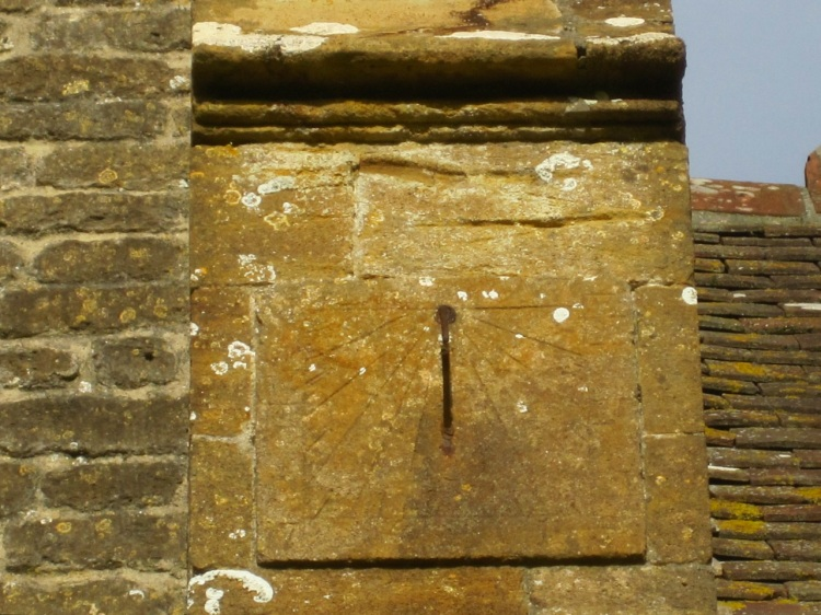 Longburton Church, Dorset: scratch sundial
