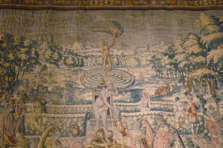 TAPESTRY MAZE HANGING AT KNOLE, SEVENOAKS