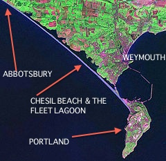 Portland Bill & Chesil Beach (Landsat)