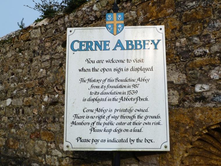 Cerne Abbas, Dorset - Abbey Notice