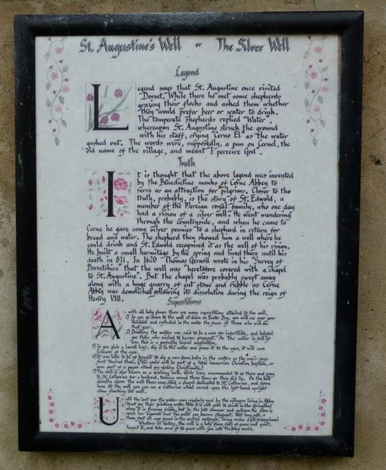 Cerne Abbas, Dorset - St Augustine's Well Legend