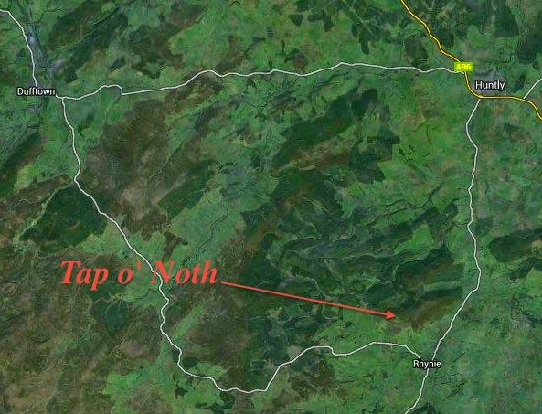 Tap o' Noth Map jpg
