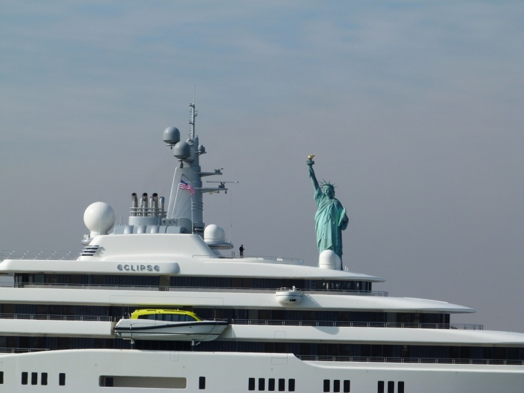 NYC Transport - Private Yacht with Novelty Mascot
