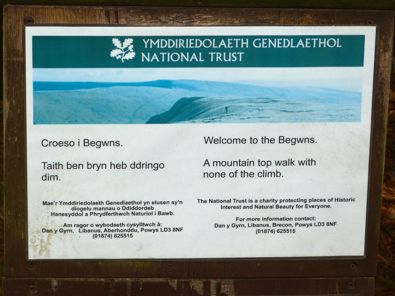 The Begwyns - NT sign