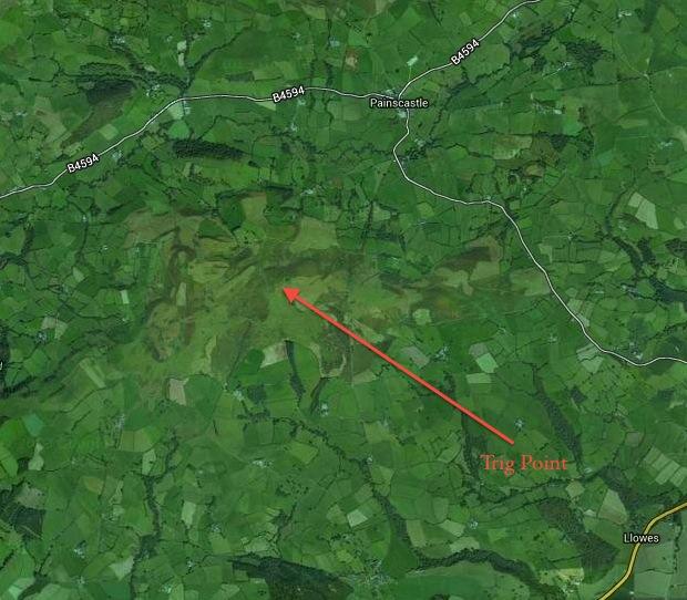 The Begwyns Trig Point Map 1