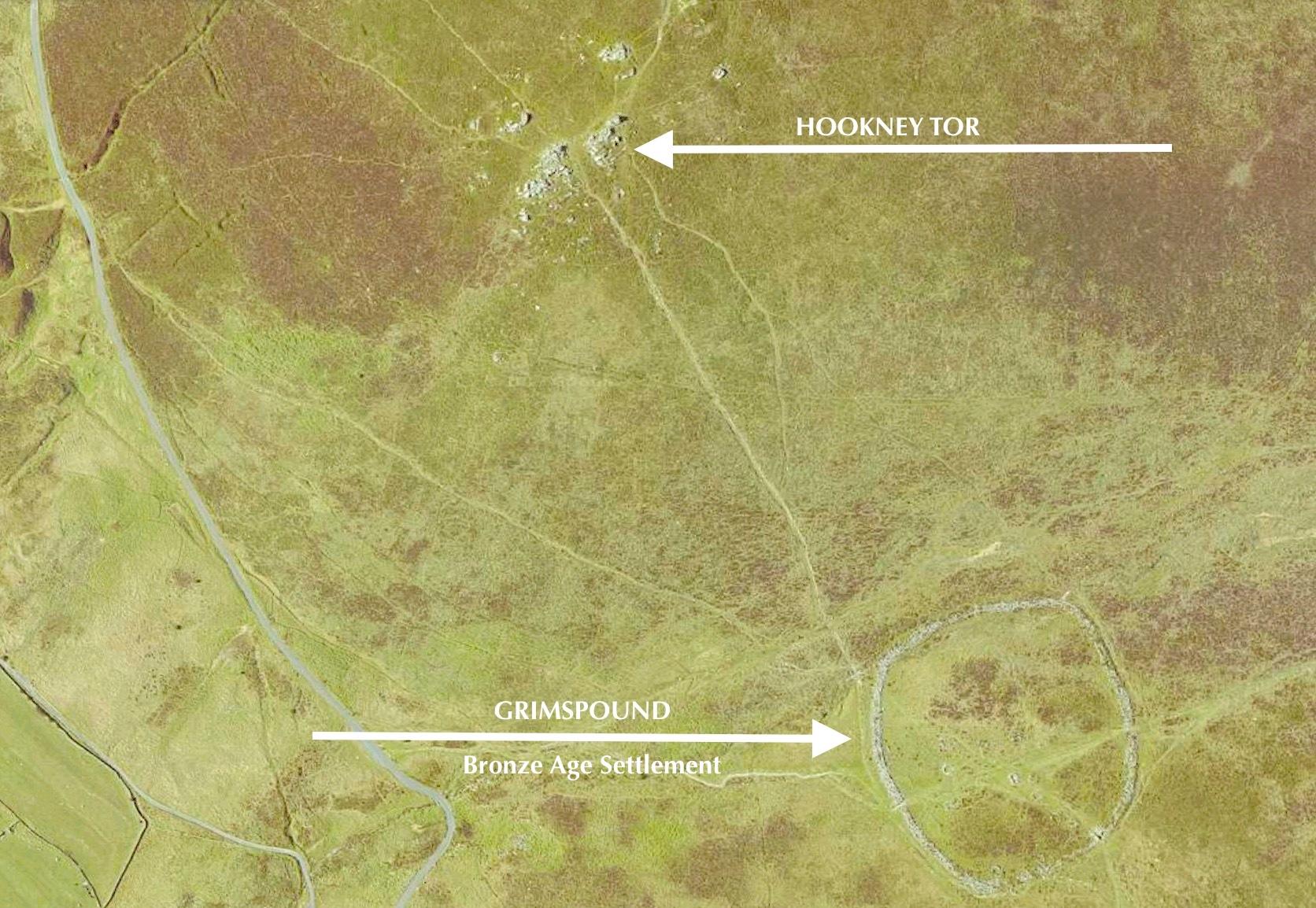 Hookney Tor & Grimspound Dartmoor - Map