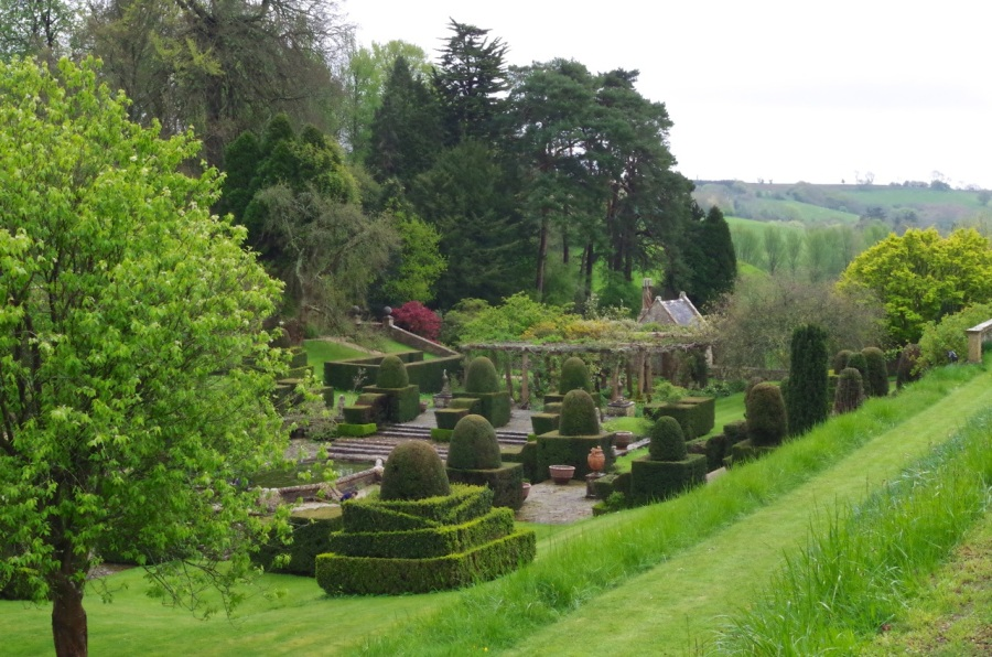Mapperton House, Dorset - sunken gardens
