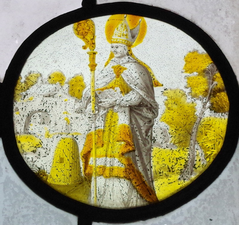 St Ambrose and bees, Mapperton, Dorset