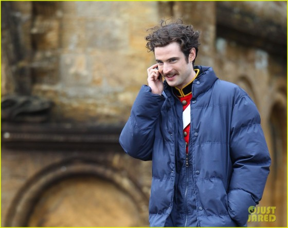 Tom Sturridge films a scene for the movie Far from the Madding Crowd in Dorset Featuring: Tom Sturridge Where: Sherbourne, United Kingdom When: 22 Oct 2013 Credit: WENN.com