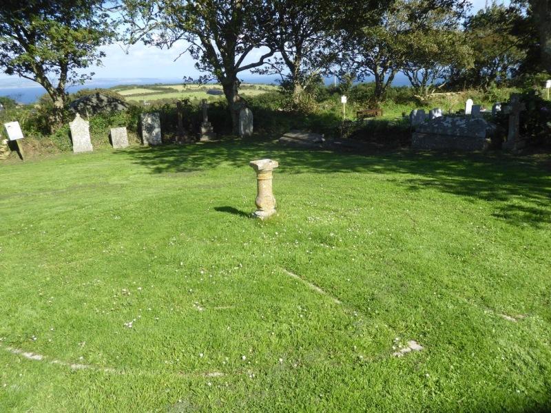 Paul Churchyard Cornwall: sundial & maze (Keith Salvesen)