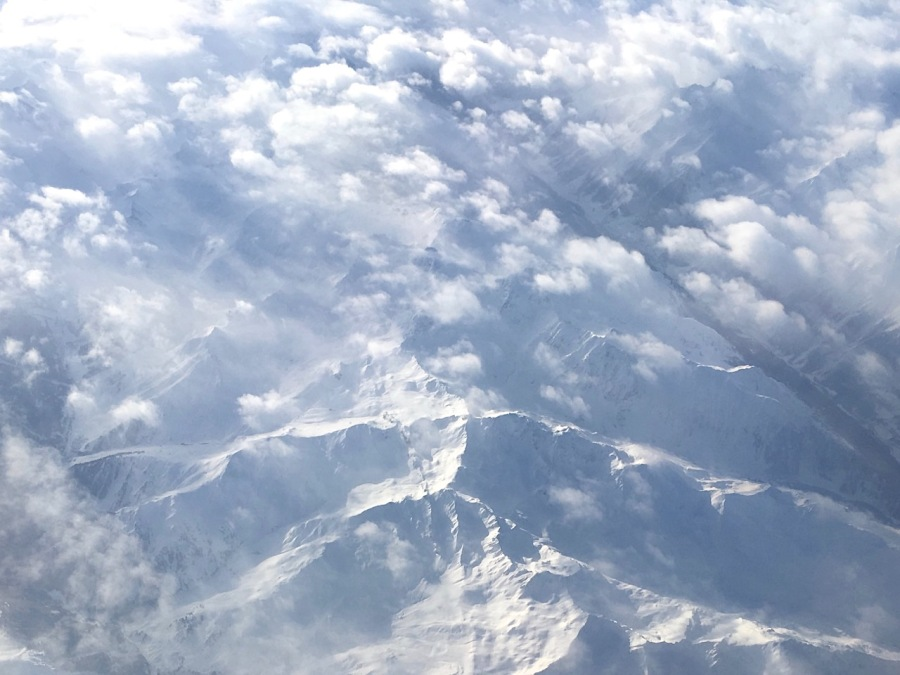 The Alps from 30,000 feet (Keith Salvesen)