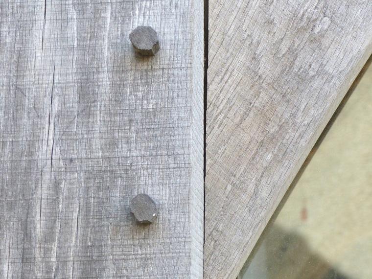 Cruck Market Hall, Penistone Yorks - wooden pegs (Keith Salvesen)