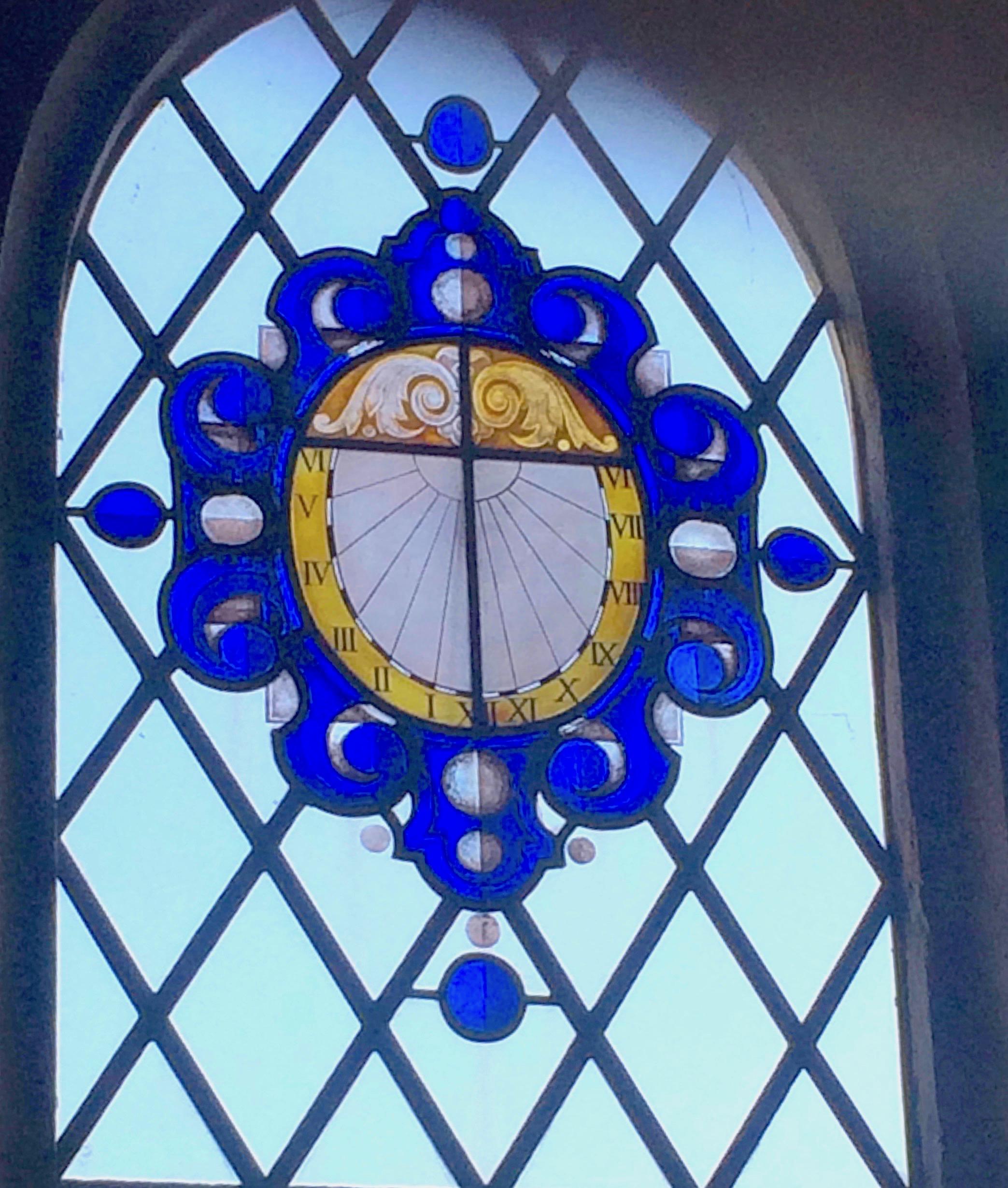 Toller Porcorum Church, Dorset - Stained Glass Sundial