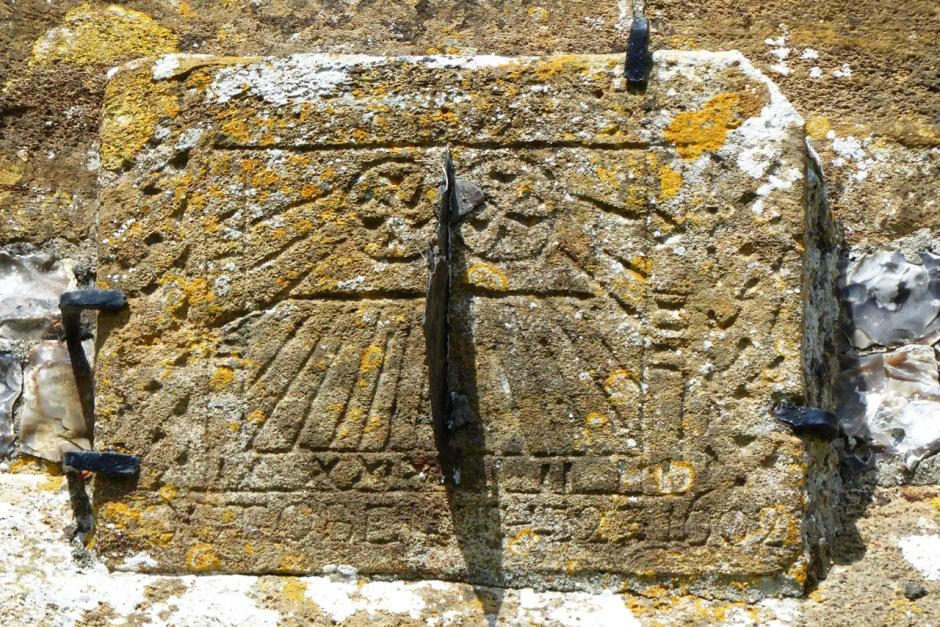 Medieval Mass Sundial, Piddletrenthide Church, Dorset (Keith Salvesen)