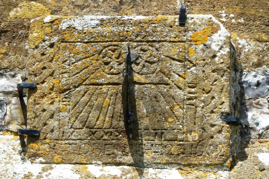 Medieval Mass Sundial, Piddletrenthide Church, Dorset (Keith Salvesen)