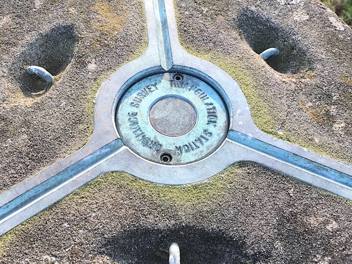 TRIG POINT, MELBURY BUBB, DORSET top plate